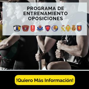 Programa de entrenamiento Oposiciones